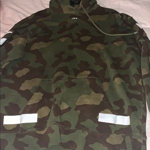 Off-white camouflage men hoodie